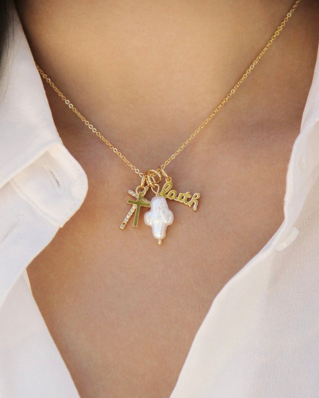 GOTTA HAVE FAITH charm necklace [gold]
