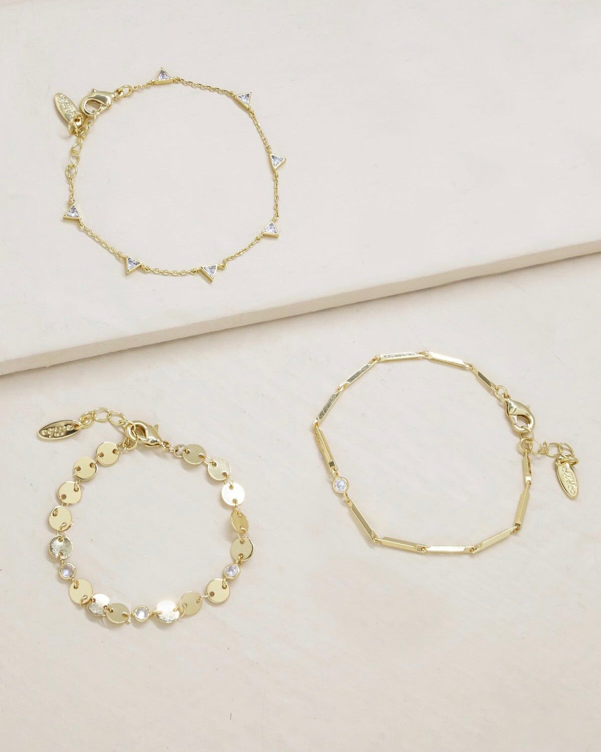 CITY LIGHTS bracelet set [gold]
