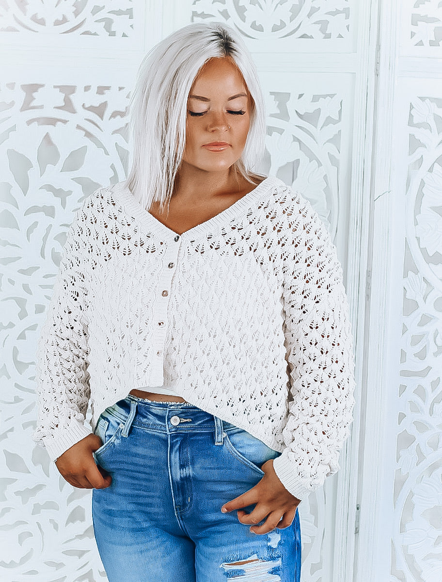everleigh cropped sweater [ivory]