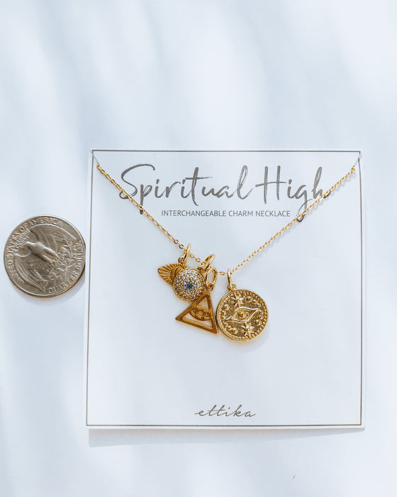 SPIRITUAL HIGH charm necklace [gold]