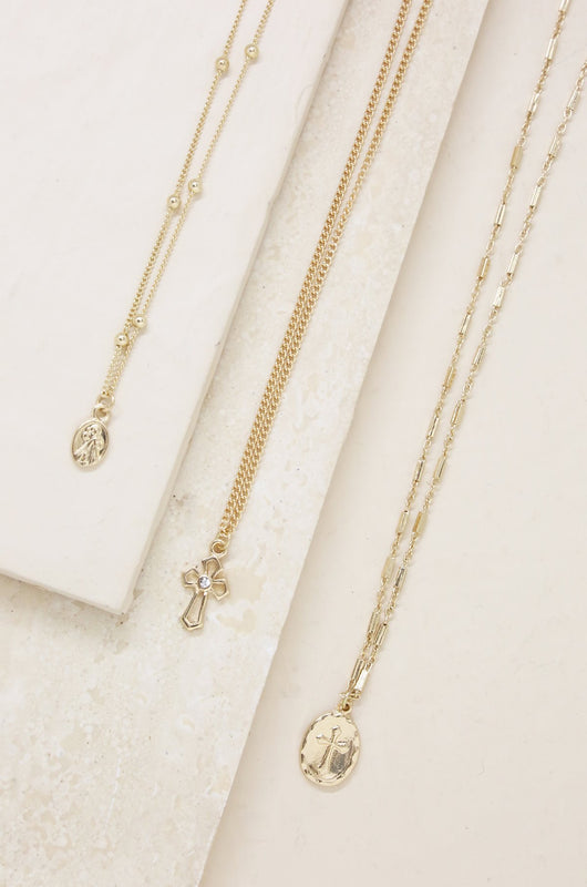 LET'S GO layers necklace [gold]