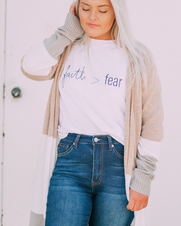 FAITH> FEAR tee [white/black]