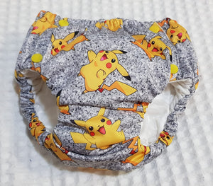 'Little Critters' Yellow Dude Glitter Cotton Lycra 220-240gsm 50cm