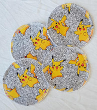 Load image into Gallery viewer, 'Little Critters' Yellow Dude Glitter Cotton Lycra 220-240gsm 50cm
