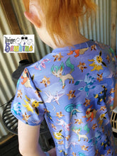 Load image into Gallery viewer, 'Little Critters' Fox Purple Cotton Lycra 220-240gsm 50cm