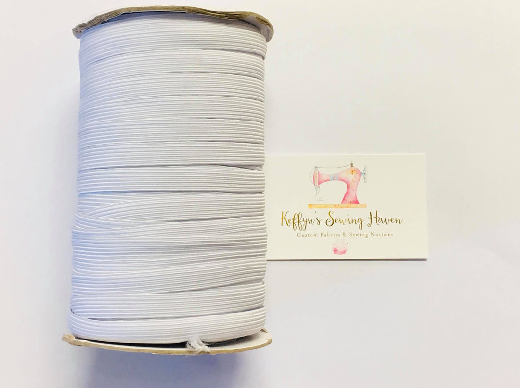 8mm Braided Elastic by the Roll
