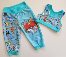 Load image into Gallery viewer, 'Little Critters' Fox Blue Cotton Lycra 220-240gsm 50cm