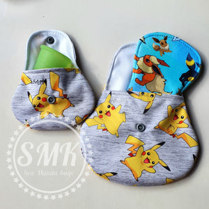 'Little Critters' Yellow Dude Grey Bamboo Lycra 50cm
