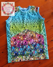 Load image into Gallery viewer, Zombies Blue & Green Brains Cotton Lycra 50cm