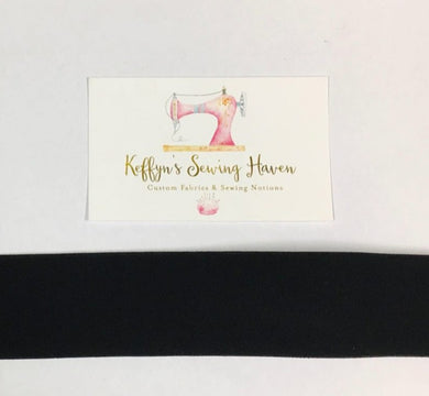 38mm Waist Elastic - Black