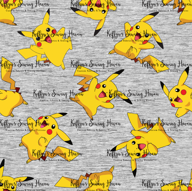 'Little Critters' Yellow Dude Grey Cotton Woven 50cm