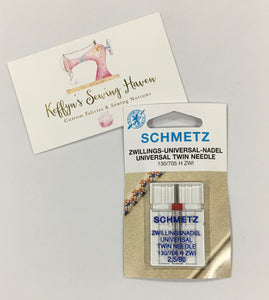 Schmetz Universal Twin Needle - 2.5mm 80/12
