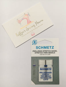 Schmetz Universal Twin Stretch Needle - 2.5mm 75/11