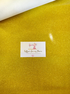Glitter Vinyl Fabric - #4 Yellow Gold