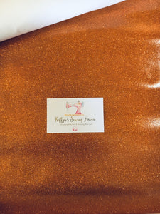 Glitter Vinyl Fabric - #8 Copper