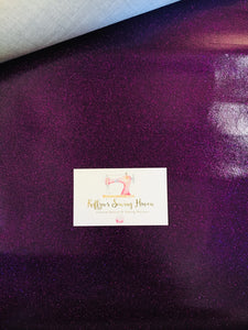 Glitter Vinyl Fabric - #10 Deep Purple A4 Sheet