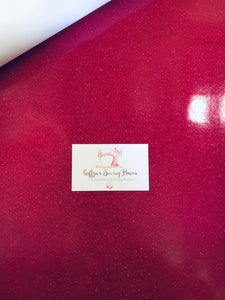 Glitter Vinyl Fabric - #15 Hot Pink A4 Sheet