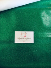 Load image into Gallery viewer, Glitter Vinyl Fabric - #18 Christmas Green A4 Sheet