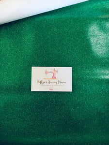 Glitter Vinyl Fabric - #18 Christmas Green A4 Sheet