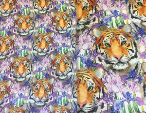 OUT OF STOCK Fierce Beauty (Small Scale) Cotton Lycra 240gsm 50cm