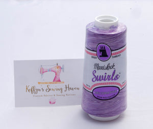 Maxi-Lock Swirls Purple Berry Wave