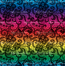 Load image into Gallery viewer, OUT OF STOCK Rainbow Lace Minky