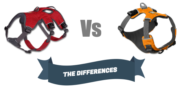 The difference between the Ruffwear's Front Range and Webmaster Harness