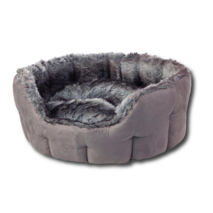 House of Paws Arctic Fox Snuggle Dog Bed Grey