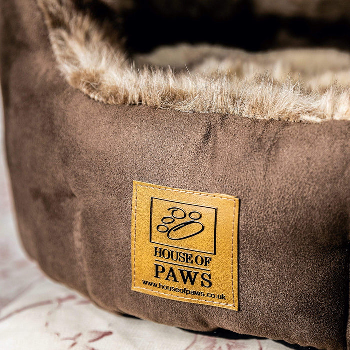 House of Paws Artic Fox Snuggle Dog Bed