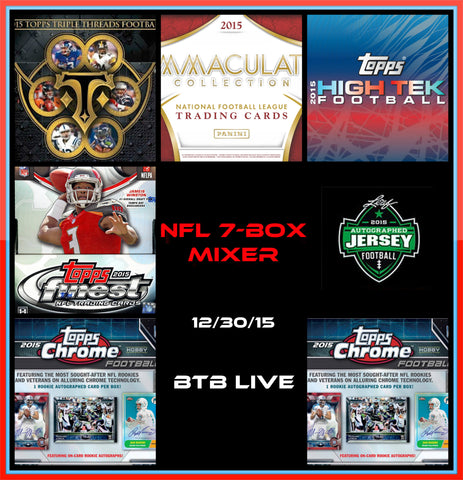 12/30/15 NFL 7-box Mixer - Random Teams