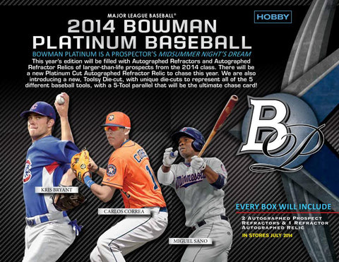 2014 Bowman Platinum Baseball 12-box Case Break - Random Teams - '14 July Release