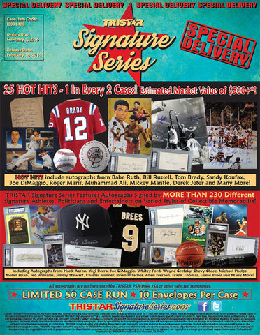 LIVE SAT. Feb 13 at HOUSTON TRISTAR SHOW - 2016 Tristar Signature Series 10-box - Hit Draft