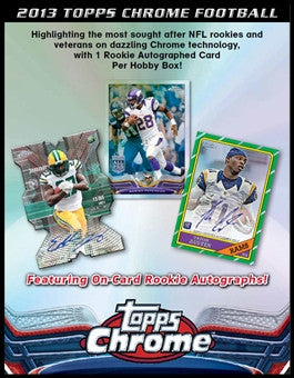 Case #1 2013 Topps Chrome Football 12-Box Case Break - Random Teams Break