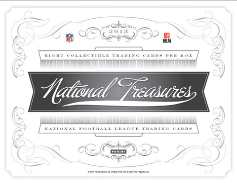 LIVE Friday 3/28 @9pm-CT 2013 Panini National Treasures Football 4-box Case Break - Random Teams