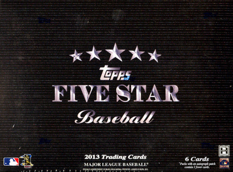 Box #4 2013 Topps 5-Star Baseball 1-Box Break - 2 Random Teams BOGO
