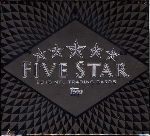 LIVE 6/17 @730pm-CT 2013 Topps Five Star Football 3-Box Case Break - Pick Your Teams Break