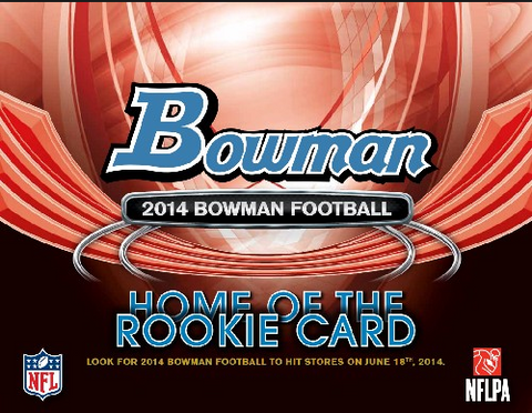 LIVE 6/25 730pm_CT Case #1 2014 Bowman Football 10-Box Case Break - Pick Your Teams Break -  '14 June Release