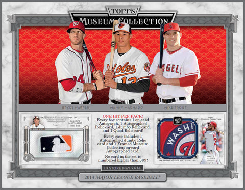 Box #3 2014 Topps Museum Collection Baseball box break - 2 Random Teams per Spot