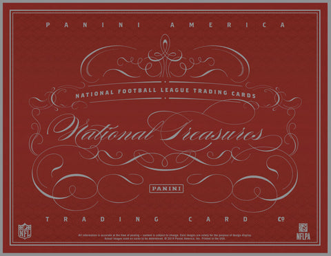 LIVE SAT. 8/8/15 - 2014 Panini National Treasures FB 4-Box Case Break - Random Teams (28 Spots)