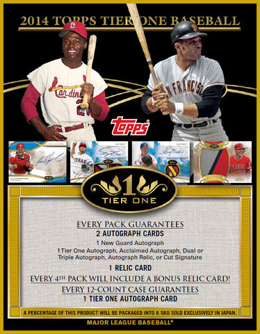 LIVE Friday 6/6 @8pm_CT Case #1 2014 Topps Tier One Baseball 12-Box Case Break - Pick Your Teams Break -  '14 June Release
