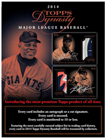 LIVE 12/3 2014 Topps Dynasty Baseball 5-box Case Break - Hit Draft