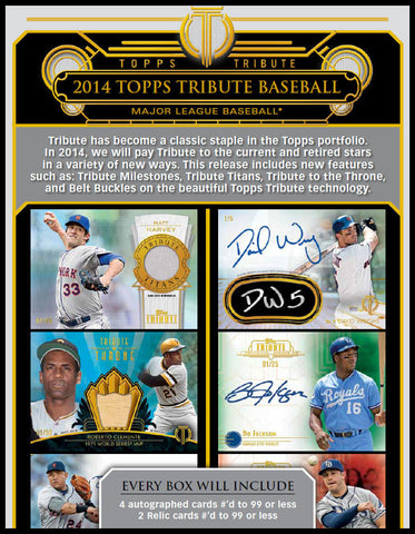 2014 Topps Tribute Baseball  - PC Hobby Box