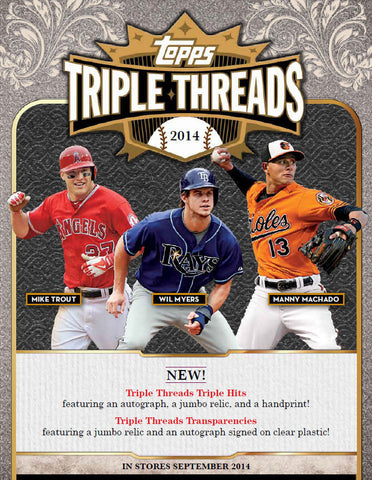 #2 2014 Topps Triple Threads Baseball 1-box Break - Random Teams