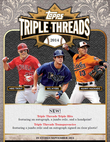 #2 2014 Topps Triple Threads Baseball 9-box Inner Case Break - Random Teams