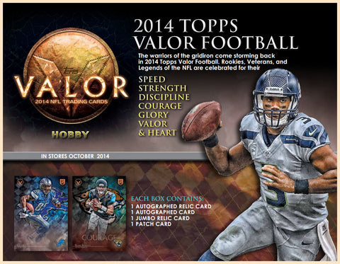 #6 2014 Topps Valor Football 1-box Break - Random Divisions