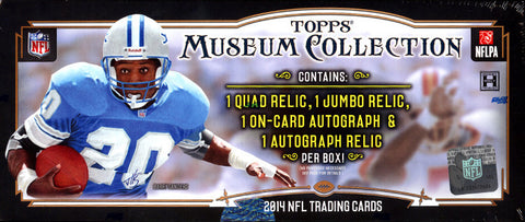 LIVE FRI. 8/7/15 - 2014 Topps Museum Collection NFL 12-box Case Break - Random Teams (30 Spots)