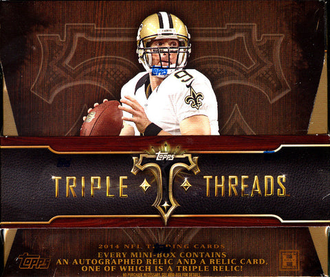 #2 2014 Topps Triple Threads 9-box Inner Case Break - Random Teams