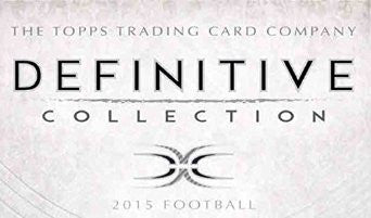 #2 2015 Definitive Football 3-box Case Break - Random Teams (28 Spots)