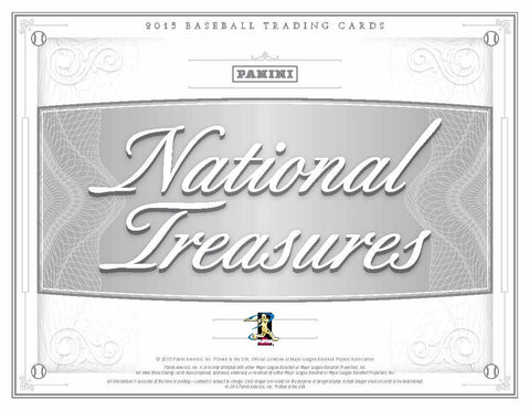 2015 Panini National Treasures Baseball Case Break- Random Teams (28 Total Spots)