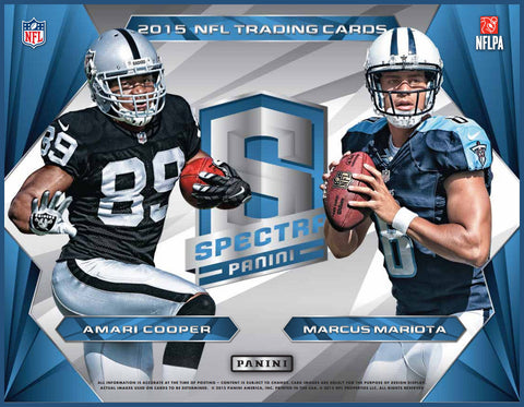 LIVE Wed. 9/23/15 #12 2015 Spectra Football 4-box Half Case Break - Random Teams